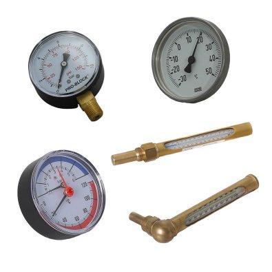 Mjerni instrumenti - manometar, termometar, termomanometar za centralno grijanje
