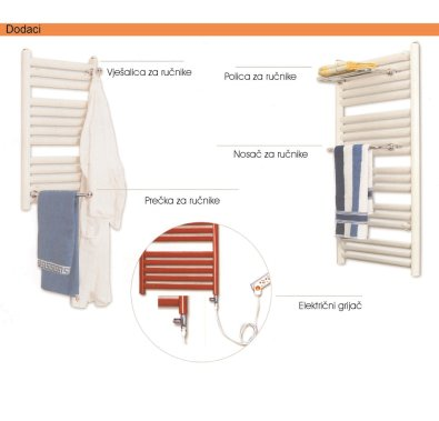 Kupaonski radijator COPA - Dodaci