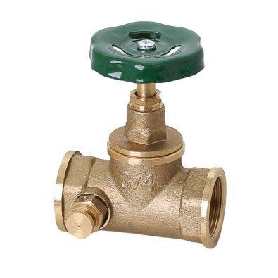 Ventil propusni s ispusnom slavinom klasična je izvedba ispusnog ventila na obrtaj.