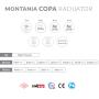 Kupaonski radijator COPA - Specifikacije
