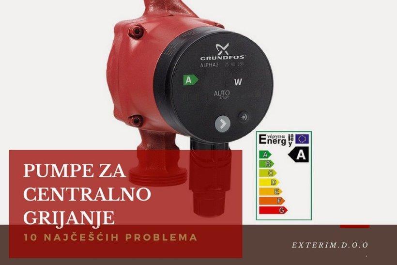 Kako otkriti problem kvara na pumpi za centralno grijanje?