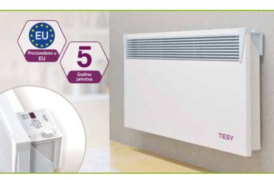 Električna grijalica s Wi-Fi upravljanjem 1000 W HeatEco - TESY CLOUD