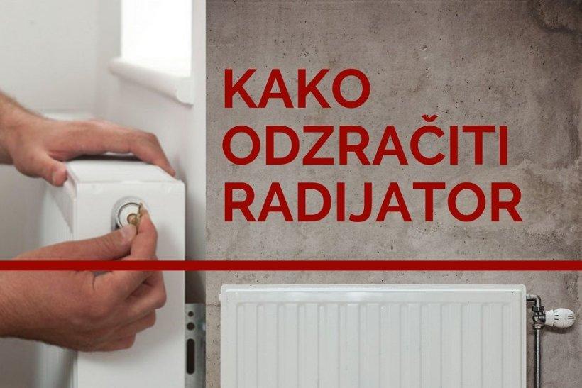 Ukoliko imate centralno grijanje i radijator vam ne grije potrebno je odzračiti radijator!