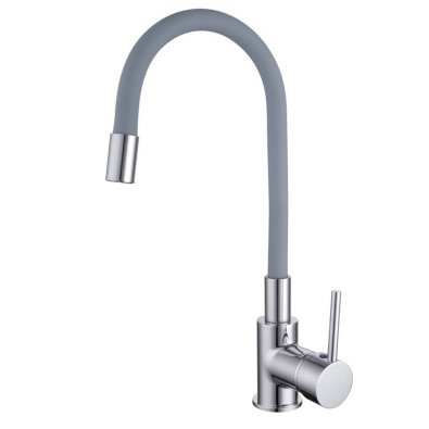 Fleksibilna siva kuhinjska slavina/miješalica za sudoper JANA