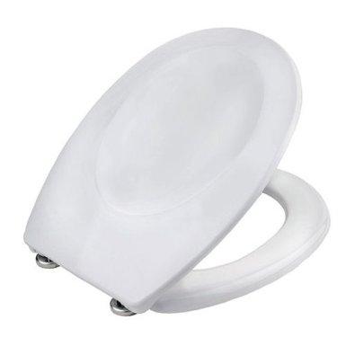 WC daska za WC školjku SIROS - bijela antibakterijska