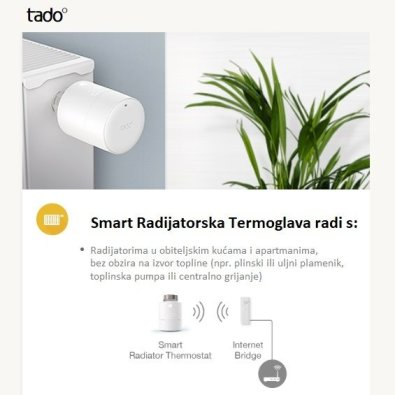 Smart Wifi Termoglava tado°