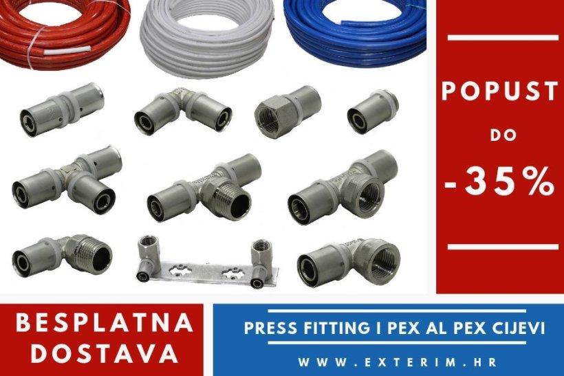 Besplatna dostava + Popust na Press fitting i pex cijevi!