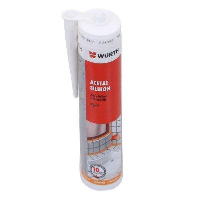 Silikon bijeli Wurth - silikon za vlažne prostorije