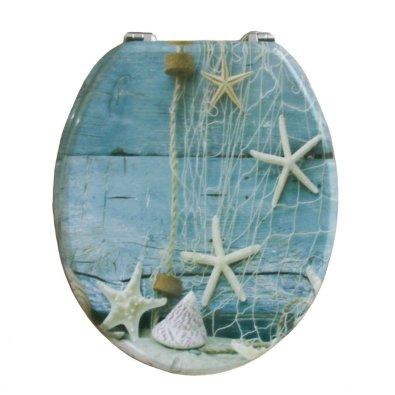 Wc daska - morski motivi, mreža, morska zvijezda, školjka