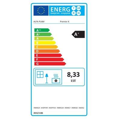 Energetska oznaka - Kamin Alfa Plam Premijer K