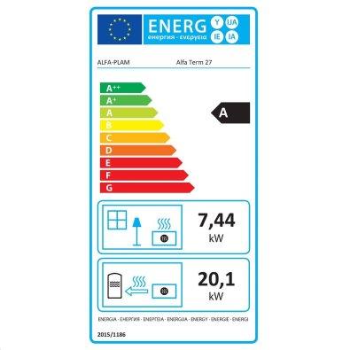 Energetska oznaka - Štednjak Alfa Term 27