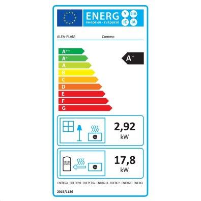 Energetska oznaka - Peć na pelet Commo 21