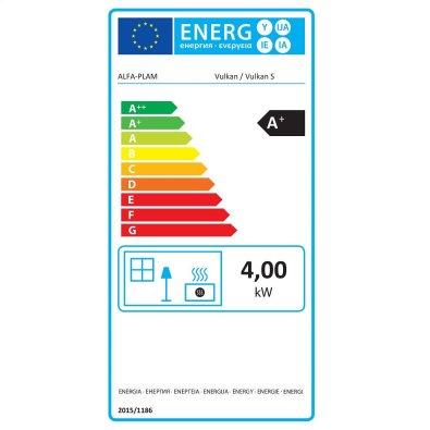 Energetska oznaka - Peć Alfa Vulkan S