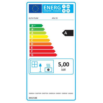 Energetska oznaka - Štednjak Alfa 55