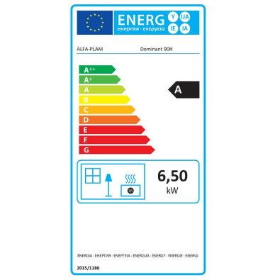 Energetska oznaka - Štednjak Alfa Dominant 90