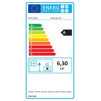 Energetska oznaka - Štednjak Alfa Dominant 70