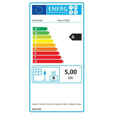 Energetska oznaka - Štednjak Alfa Donna 90