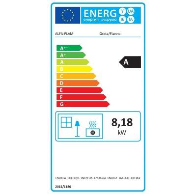 Energetska oznaka - Peć Alfa Plam Greta