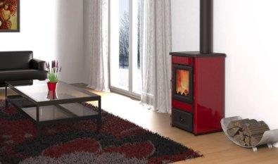 Peć Alfa Lara 8 kW - crvena