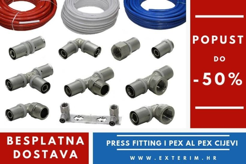 Popust do -50% na Press fitting i Pex cijevi