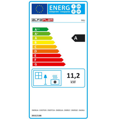 Energetska oznaka - Ugradni kamin FKU