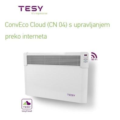 Električni radijator s Wi-Fi upravljanjem 1000 W HeatEco - TESY CLOUD