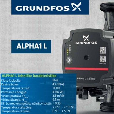 Grundfos pumpa ALPHA1 L