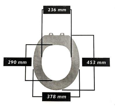 WC daska Taro - samospuštajuća - dimenzije