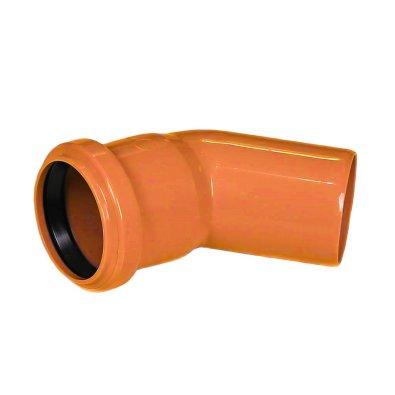 PVC koljeno za odvodnju narančasto