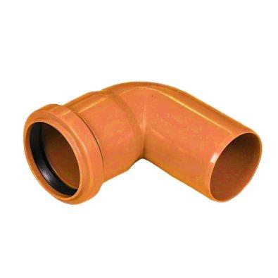 PVC koljeno fi 160/90° narančasto