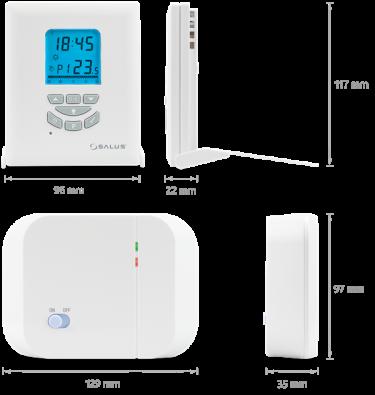 Salus električni termostat tjedni  - dimenzije