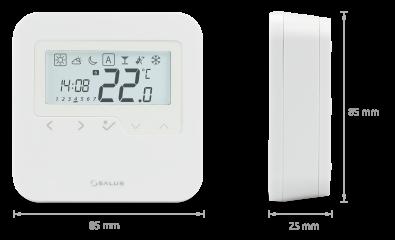 alus ugradbeni bežični smart termostat HTRP-RF 50 - dimenzije
